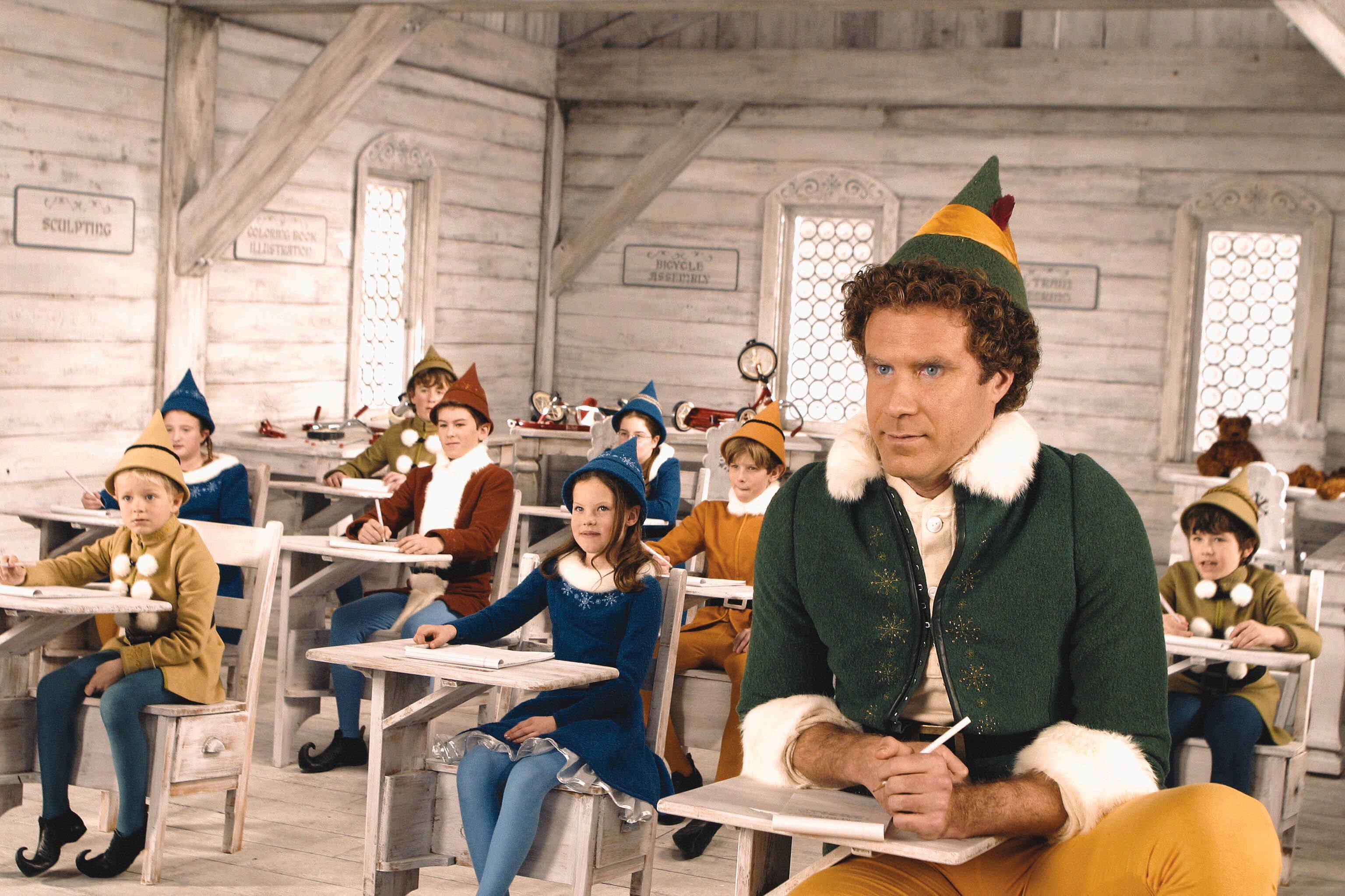 Will Ferrell in Elf (2003). © New Line Cinema