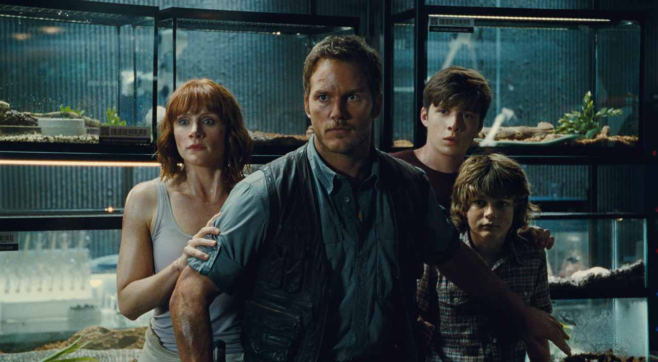 Bryce Dallas Howard, Chris Pratt, Nick Robinson and Ty Simpkins in Jurassic World. (Universal Pictures)