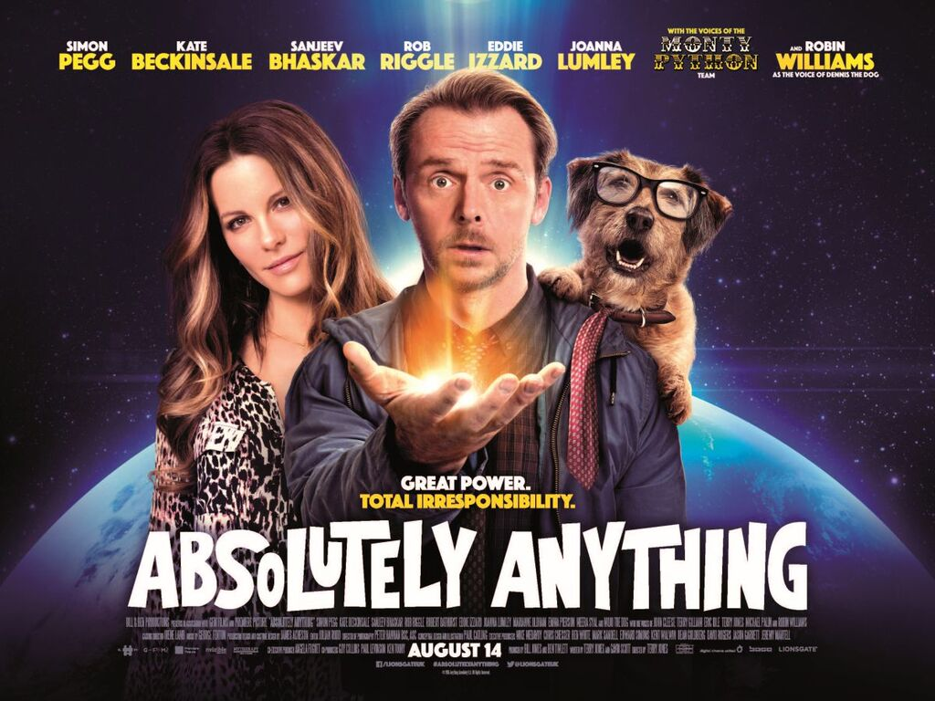 The UK 2 sheet poster for Absolutely Anything