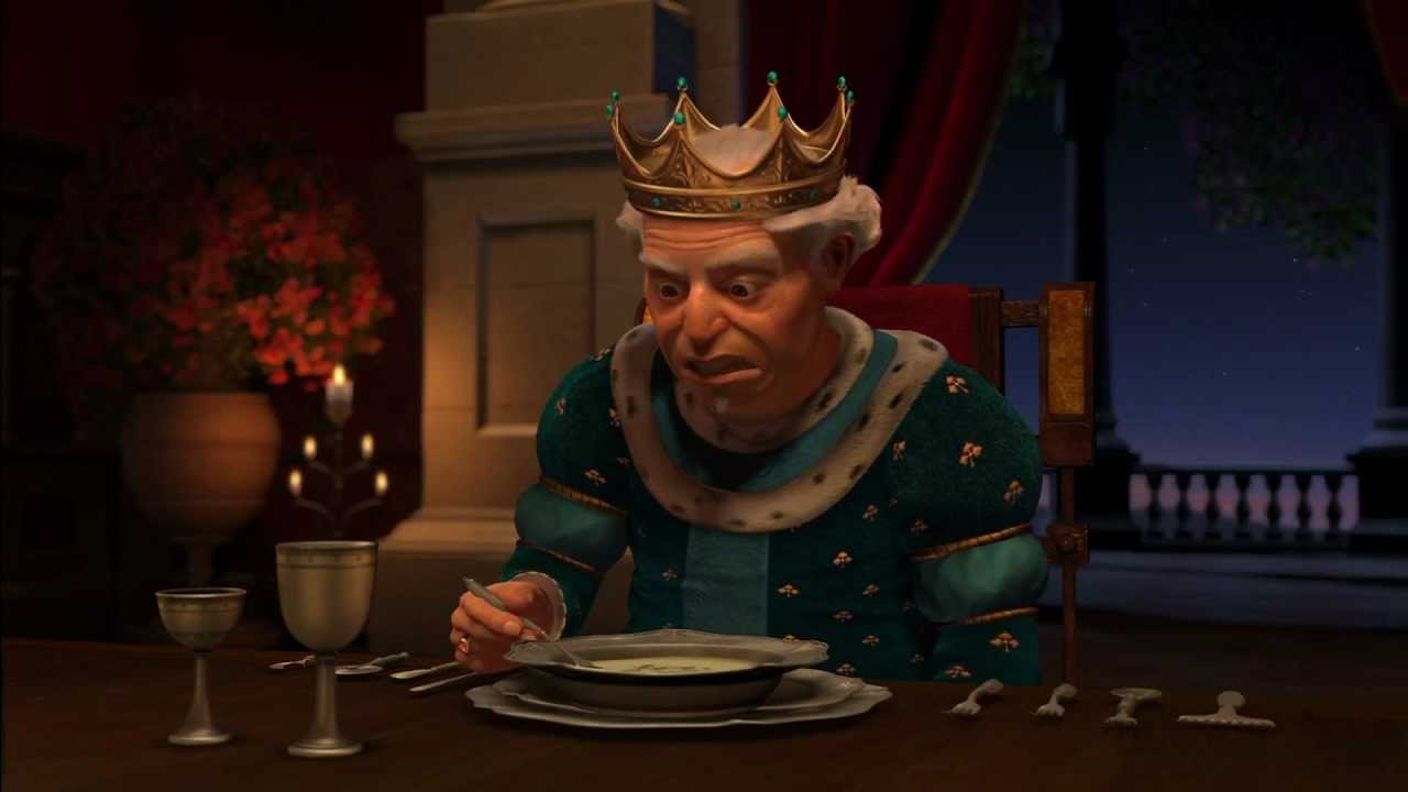 The King, Shrek 2 as played by John Cleese.