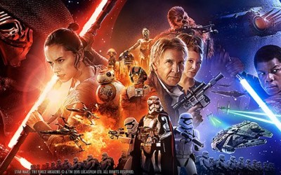 Star Wars Episode VII The Force Awakens, 2-sheet poster artwork.