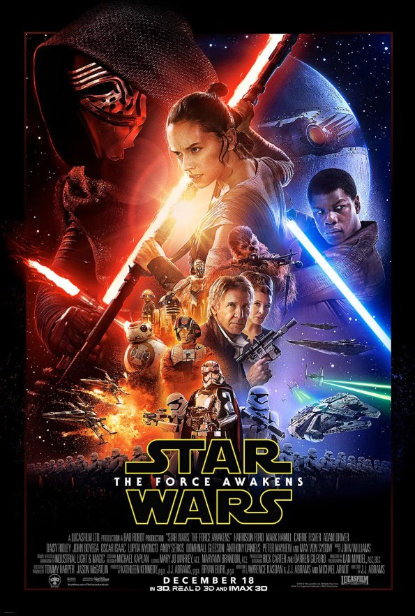 Star Wars Episode VII The Force Awakens poster artwork.