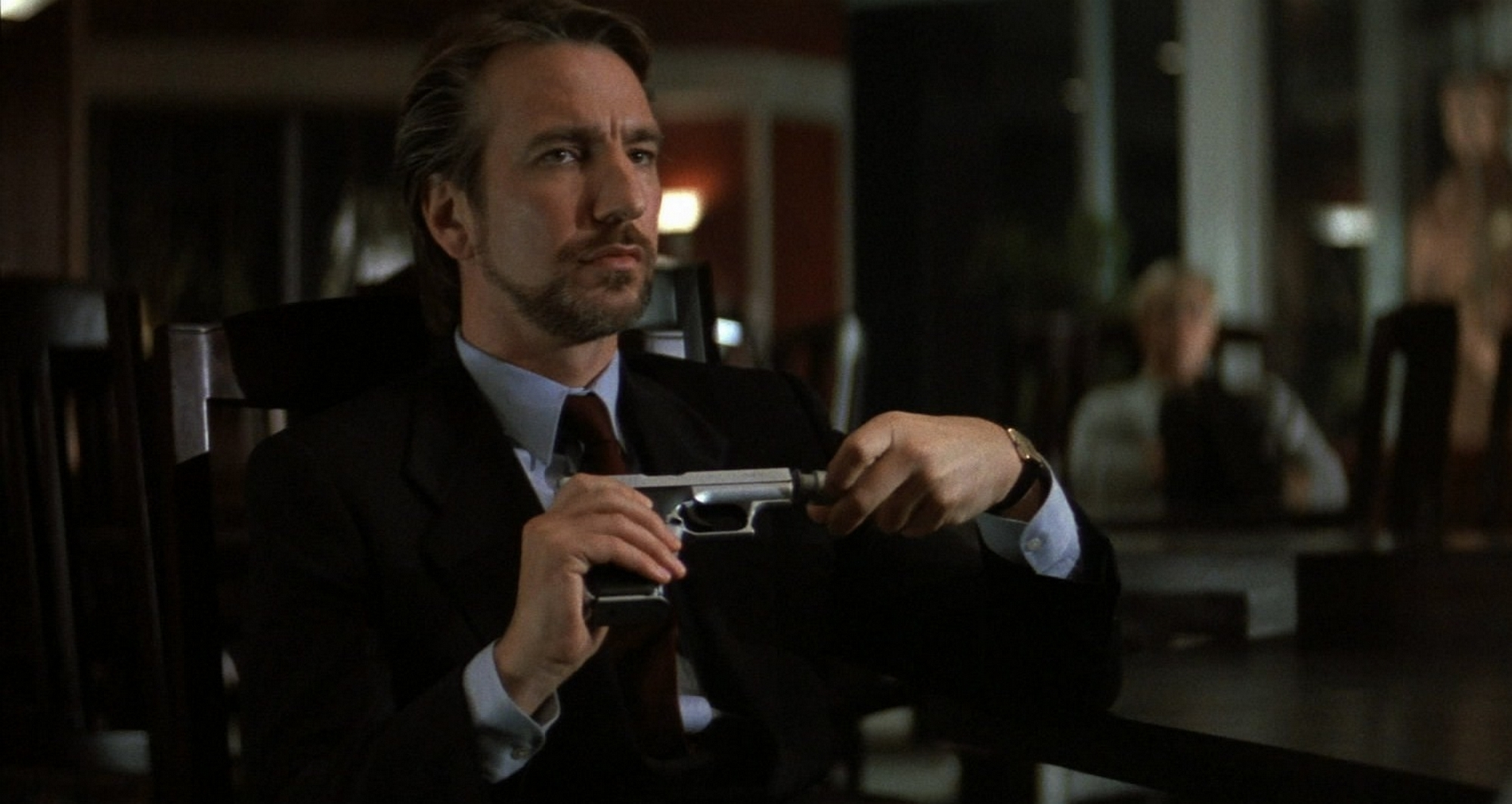 Alan Rickman stars as Hans Gruber in DIE HARD (1988).  Twentieth Century Fox.