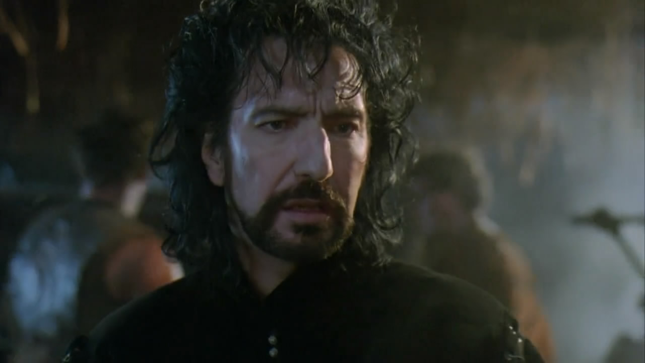 Alan Rickman as The Sheriff Of Nottingham in ROBIN HOOD PRINCE OF THIEVES (1991).  Warner Bros.