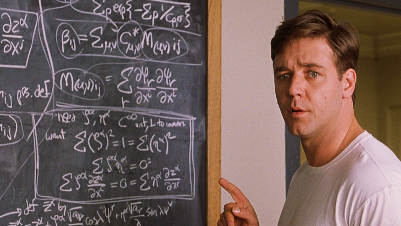 Russell Crowe in A BEAUTIFUL MIND (2001)