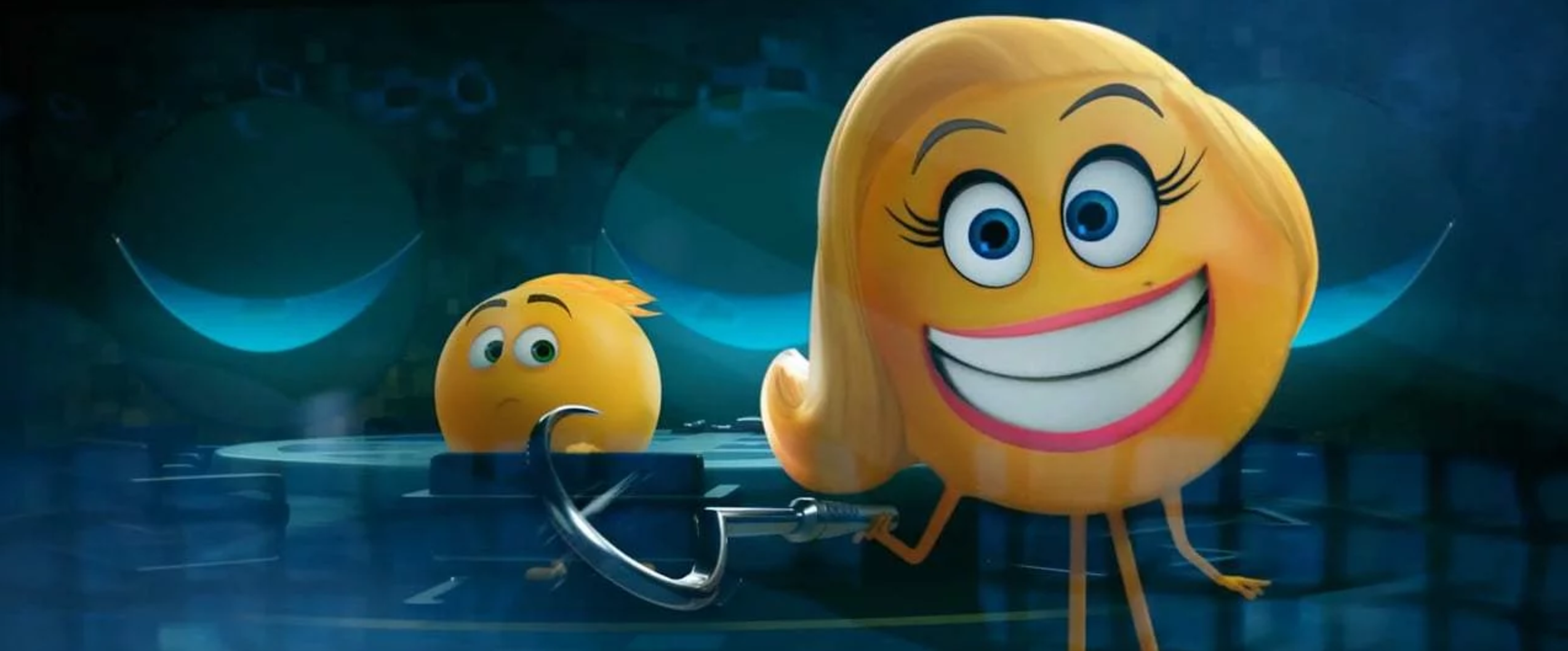 Maya Rudolph as Smiler in THE EMOJI MOVIE (2017) © Sony Pictures Animation
