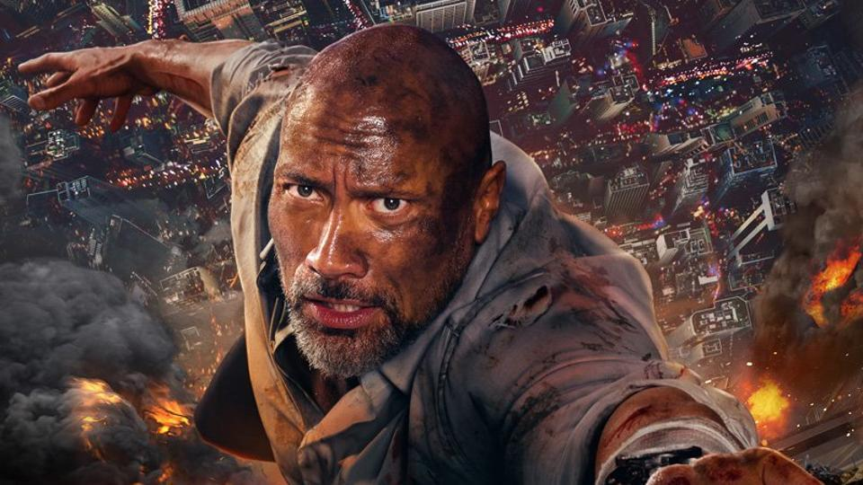 Dwayne Johnson as Will Sawyer in SKYSCRAPER (2018) ©  Legendary Entertainment