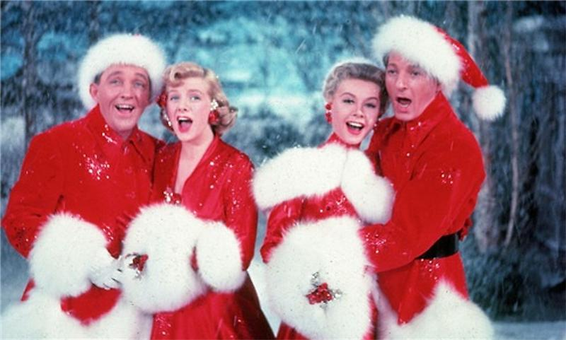 Bing Crosby, Rosemary Clooney, Vera Ellen amd Danny Kaye in WHITE CHRISTMAS (1954) © Paramount Pictures