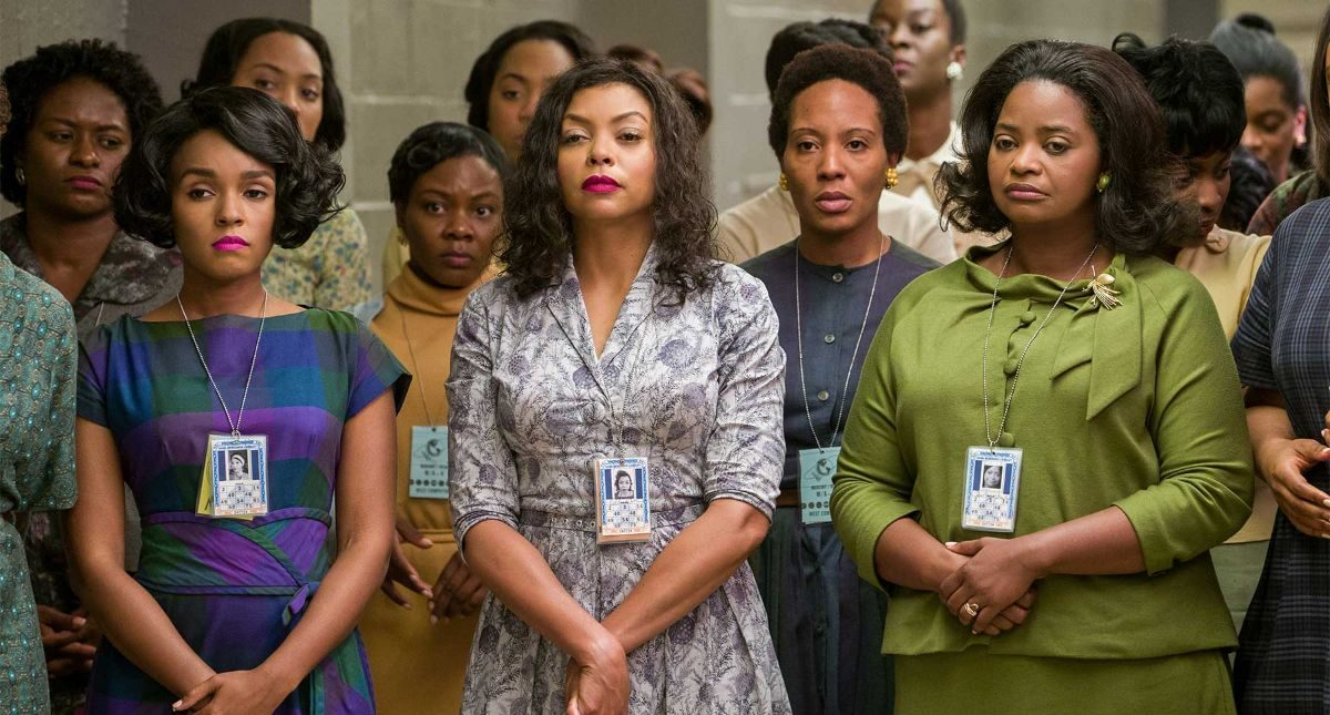 Janelle Monae as Mary Jackson, Taraji P. Henson as Kathering G. Johnson and Octavia Spencer as Dorothy Vaughan in HIDDEN FIGURES (2016) © 20th Century Fox 2016