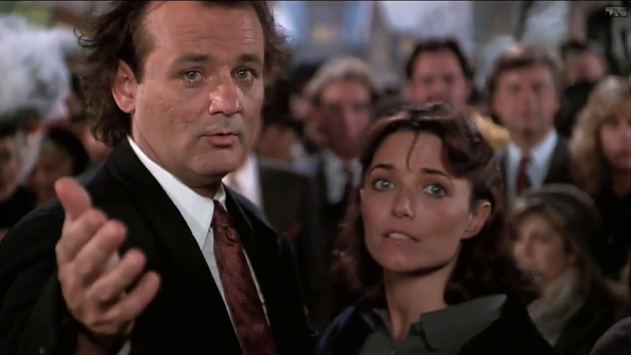 Bill Murray and Karen Allen in SCROOGED! (1988) © Paramount Pictures